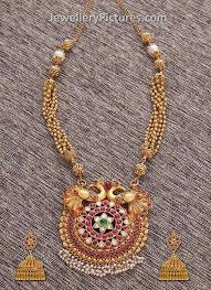 vintage necklace design images Antique necklace and antique finish necklaces latest designs how jpg