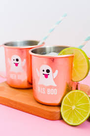 diy halloween ghost emoji mugs for couples bespoke bride