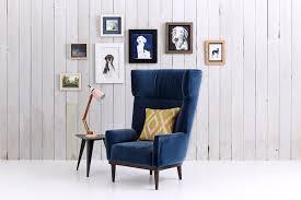 Blue Velvet Wingback Chair Blue Velvet Chair Uk Finest Black Velvet Dining Room Chairs With