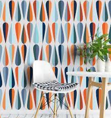 mid century self adhesive removable wallpaper mid century