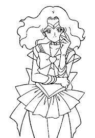 coloring sailor moon neptune coloring pages wallpaper