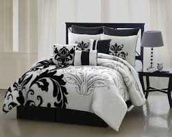 Covered Duvet Black And White Bed Comforter White Black Colors Covered Bedding
