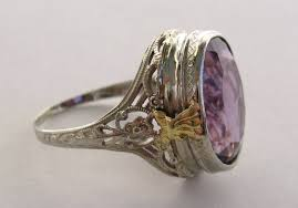 amethyst engagement rings 1920s amethyst gold filigree ring for sale at 1stdibs