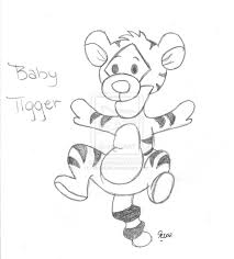 tigger drawings step by step baby tigger coloring pages coloring