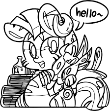 zecora baby say hello coloring page wecoloringpage