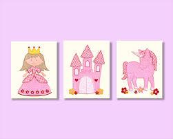 princess castle unicorn nursery wall art girls room décor