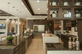 kitchen room brown wooden kitchen island storage brown granite