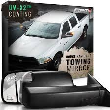 dodge ram 2500 tow mirrors deluxe towing mirrors for 2009 2012 dodge ram 1500 2500 3500 opt7