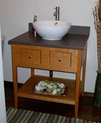 Apron Sink Bathroom Vanity by Single Apron Open Style Vanity With Two Drawers