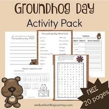 free groundhog printable pack money saving mom