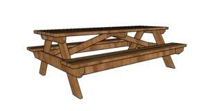 Free Picnic Table Plans 8 Foot by Furniture Free Garden Plans How To Build Garden Projects