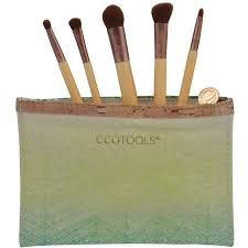 ecotools mini essentials makeup brush set 1218 3 pc walmart com