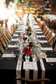 black and white table runners cheap loving the stripe table runner with black tablecloth underneath and