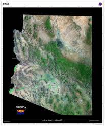 State Map Of Arizona by Arizona Satellite Imagery State Map Poster U2013 Terraprints Com