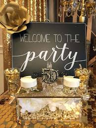 50th birthday decorations black and gold 50th birthday table