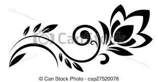 fiori disegni fantasia astratto fiori illustrazione silhouette