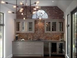 faux brick backsplash in kitchen kitchen painting faux brick brick wall diy grey brick