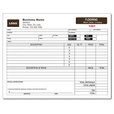 flooring contractor invoice work order designsnprint