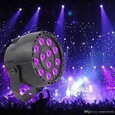 ultraviolet light therapy machine high power 36w 12 leds sound active uv led stage par light