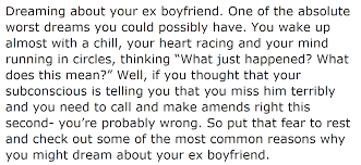 what it really means when you about your ex boyfriend