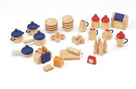 pintoy dolls house wooden accessory set kitchen amazon co uk