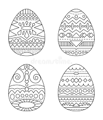 easter eggs with tribal ornament coloring page black and white eggs