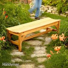 Plans For Making A Wooden Garden Bench by How To Build A Garden Bench Family Handyman