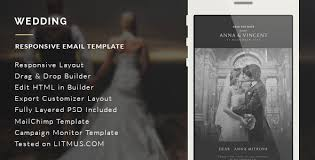 wedding invitation email template builder access by eeemon