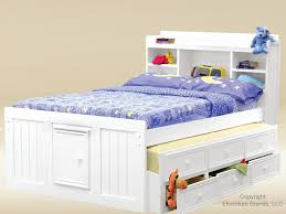 kids bed white full size toddler bed with striped bedding and