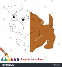 puppy colored coloring book educate stock vector 517718074