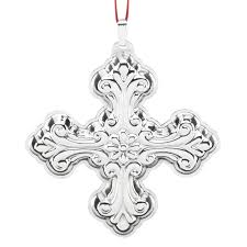 2016 silver cross ornament reed and barton ornament