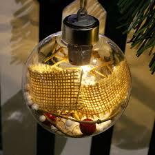 online shop merry christmas tree led bulb light ball clear plastic