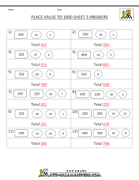 math place value worksheets to 1000