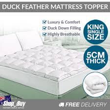 Feather Down Bed Topper Down Mattress Topper King Mattress