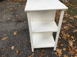 Bookshelf End Table White Painted Desk With Bookshelf End Attainable Vintage