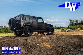 black jeep wrangler unlimited gerald wallace u0027s jeep wrangler unlimited u2014 dreamworks motorsports