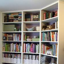 furniture hardwood built in bookshelves which paired with