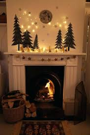 mantle decor fireplace decorations garland ireland with