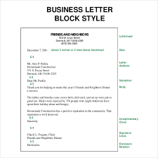 Document 2 Block Style Business Letter Practice Business Letter Template Free Word Pdf Documents Format