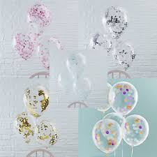 baby shower balloons baby shower balloons confetti filled 5 pack 12 luxury helium