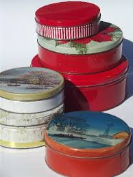 lot of vintage tins litho print tins cookie