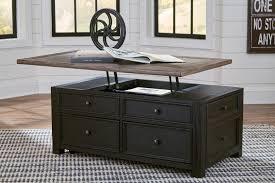 black lift top coffee table tyler creek grayish brown black lift top cocktail table