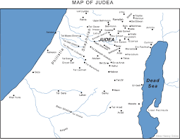 A New Map Of Jewish by Map Of Judea Bible History Online