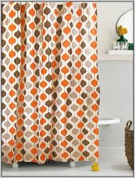 And Orange Curtains Grey And Orange Shower Curtains Curtains Home Design Ideas