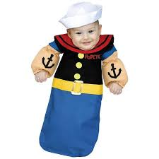 12 Month Halloween Costumes Boy Popeye Baby Bunting Infant Halloween Costume 6 12 Months