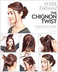 the chignon twist hairstyle tutorial step by step style hunt world