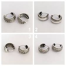 small silver hoop earrings sterling silver unisex earrings men s silver hoop earrings small