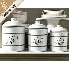 enamel kitchen canisters set of 3 numbered enamel canisters apartment pinterest