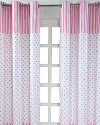 pink love hearts ready made eyelet curtain pair homescapes