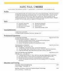 resume technology resume summary examples project base technician